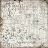 Special Offer NEW Stamperia Mechanical Fantasy Entire Collection - 12x12 Pad, 8 Stamps & 7 stencils