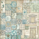 "NEW Stamperia Azulejos De Sueno Collection - 12"" x 12"" Paper Pad SBBL55 - DaliART"