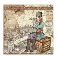 "Load image into Gallery viewer, NEW Stamperia Lady Vagabond  - 12"" x 12"" Paper Pad SBBL82 - Pre-Order"
