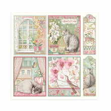 "Load image into Gallery viewer, Stamperia Orchids & Cats - 8"" x 8"" Paper Pad SBBS26"