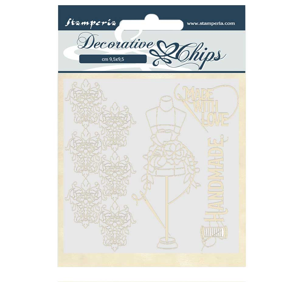New Stamperia Decorative chips 14cm x 14cm Threads- SCB52, Hobbies & Creative Arts by The Craft House