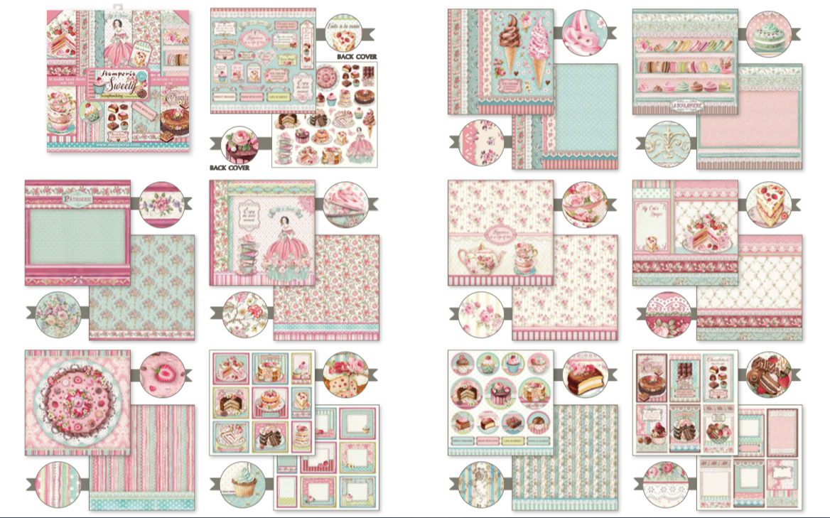 """NEW Stamperia Sweety - 8"""" x 8"""" Paper Pad SBBS21"""