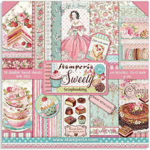 "NEW Stamperia Sweety - 12"" x 12"" Paper Pad SBBL78"