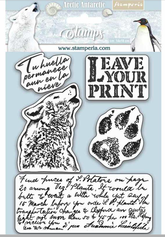 Stamperia HD Natural Rubber Stamp cm.14x18 Leave your print - WTKCC178