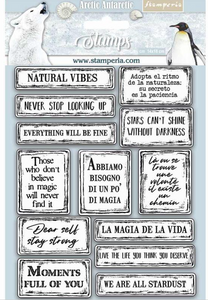 Stamperia HD Natural Rubber Stamp cm.14x18 Quotes - WTKCC180
