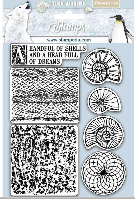 Stamperia HD Natural Rubber Stamp cm.14x18 Shells - WTKCC177