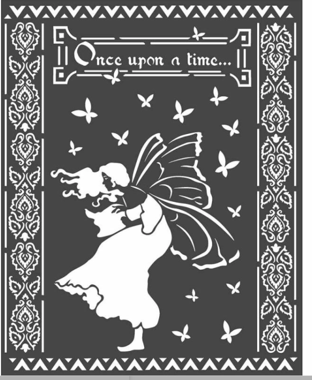 Stamperia Stencil - Thick Stencil -20 x25cm Once Upon A Time KSTD051, Art & Crafting Tools by The Craft House