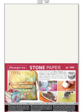 Pre-Order  Stamperia Stone Paper A4 Sheet - Cream, Gold & Silver Colours