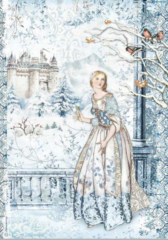 Stamperia A4 Decoupage Fairy In Snow DFSA4489