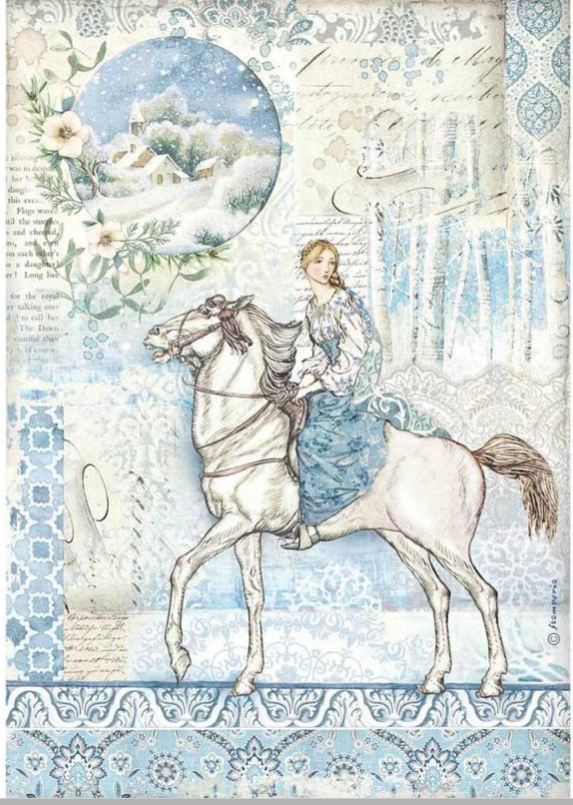 Stamperia A4 Decoupage Packed Horse DFSA4492
