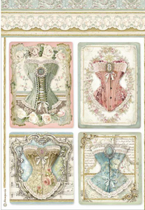 Stamperia A4 Decoupage Packed Corset DFSA4487