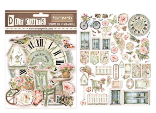Pre - Order Stamperia House of Roses - Die Cuts Assorted