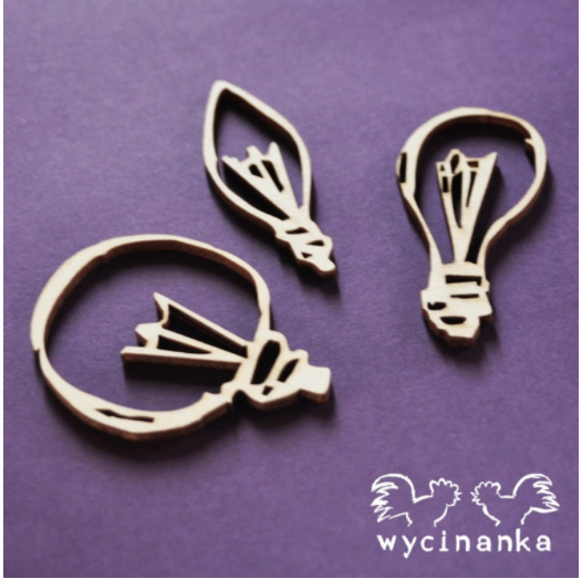 Wycinanka   3mm MDF -Selection of Light Bulbs