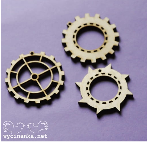 Wycinanka   3mm MDF -Selection of Cogs