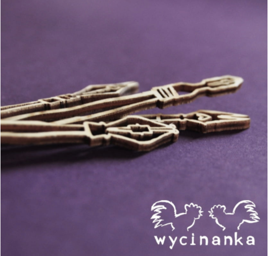 Wycinanka   3mm MDF - Vintage Ink Pen Nibs