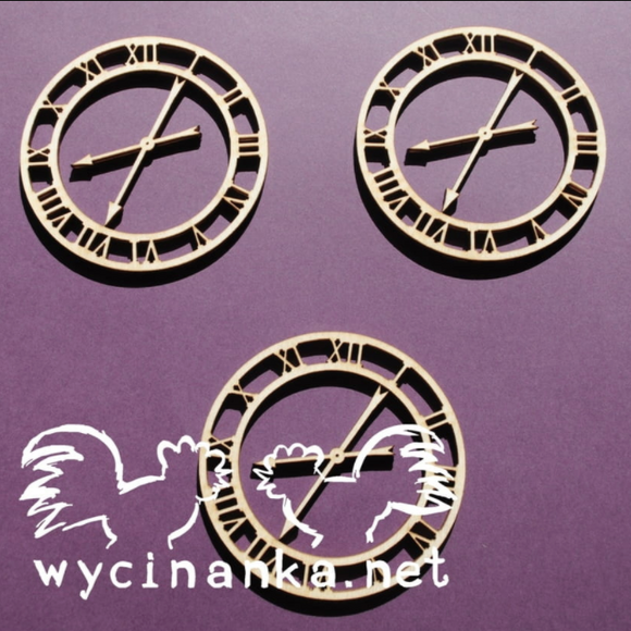 Wycinanka   3mm MDF - SteamPunK Clock
