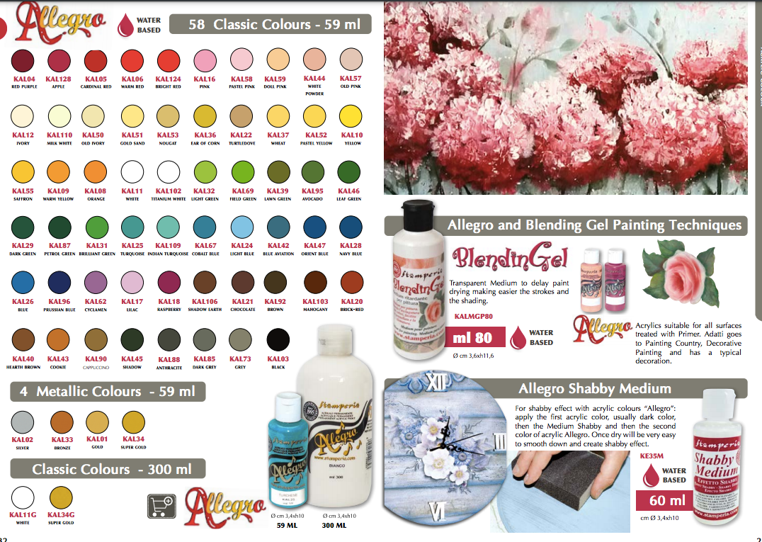 Stamperia Allegro Paint - 59ml, Art & Craft Paint by The Craft House