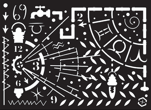 New ShokART Astral Journey Stencil - SS02, Craft Measuring & Marking Tools by The Craft House