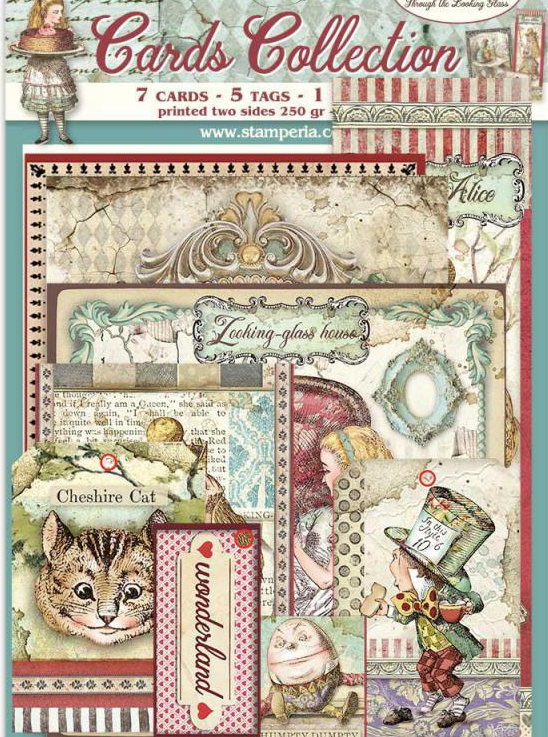 New Alice Through The Looking Glass Card Kit- SBCARD02, Art & Craft Paper by The Craft House