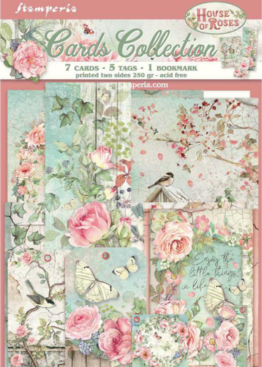 New House of Roses Card Kit- SBCARD04, Art & Craft Paper by The Craft House
