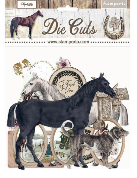 New Stamperia Die Cuts - Romantic Horse- DFLDC40, Art & Craft Kits by The Craft House