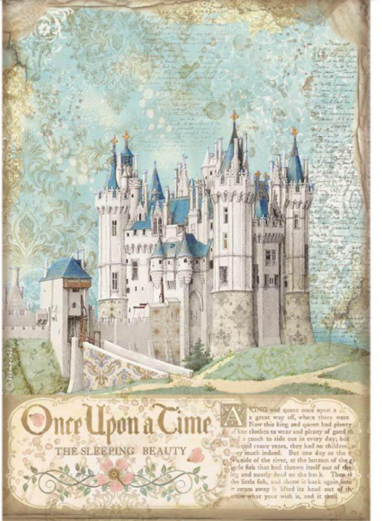 New Stamperia A4 Decoupage  Rice Paper Sleeping Beauty-Castle DFSA4569, Art & Craft Paper by The Craft House