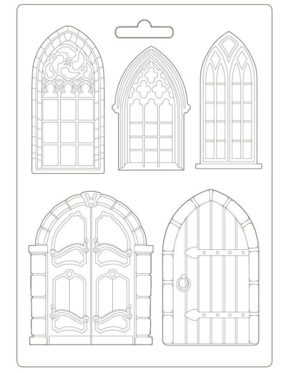 New Stamperia A4 Moulds - Sleeping Beauty Doors & Windows - K3PTA498, Hobbies & Creative Arts by The Craft House