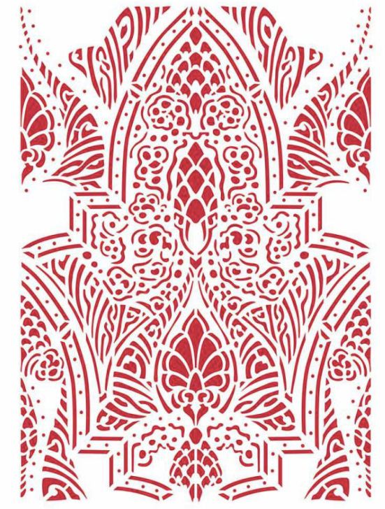 New Stamperia Stencil - Flexible transparent 21x29,7cm -Romantic Horses Saddle Pattern-KSG469, Art & Crafting Tools by The Craft House