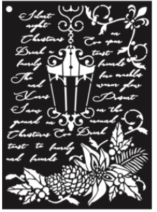 New ShokART Christmas Lantern Stencil - SS09, Craft Measuring & Marking Tools by The Craft House