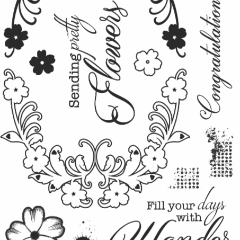 Becky Seddon 'Swirling Spray' A6 Clear Stamp - DaliART