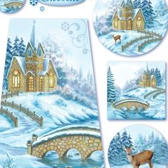 Stamperia 48x33cm Decoupage Rice Paper - Winter Tale