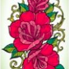 Stamperia  24 x60cm Decoupage Rice Paper - Art Deco Red Roses