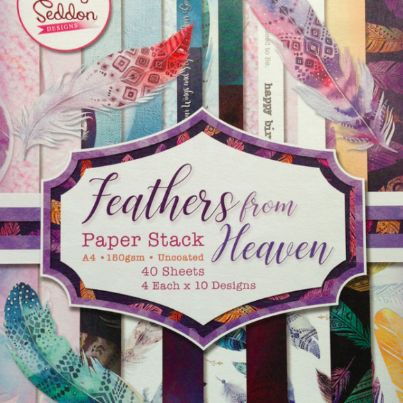Becky Seddon Feathers from Heaven - A4 Double - Sided Paper Stack - DaliART