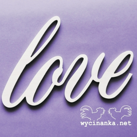 Wycinanka LOVE - 6mm Plywood, Craft Shapes & Bases by The Craft House
