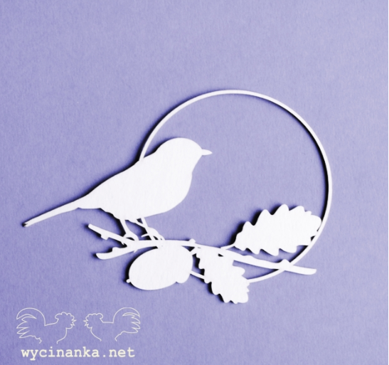 Wyncinaka - Bird Frame Chipboard