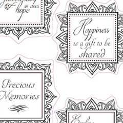 DaliART- Square Frame Sentiments Stamp – As seen on TV - DaliART