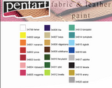 Pentart Fabric & Leather Paint in different effects -50ml