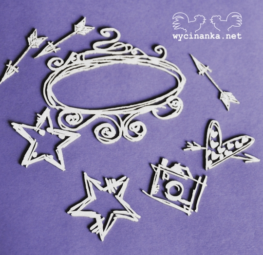 Wycinanka  - Doodling Set 2 Chipboard, Hobbies & Creative Arts by The Craft House