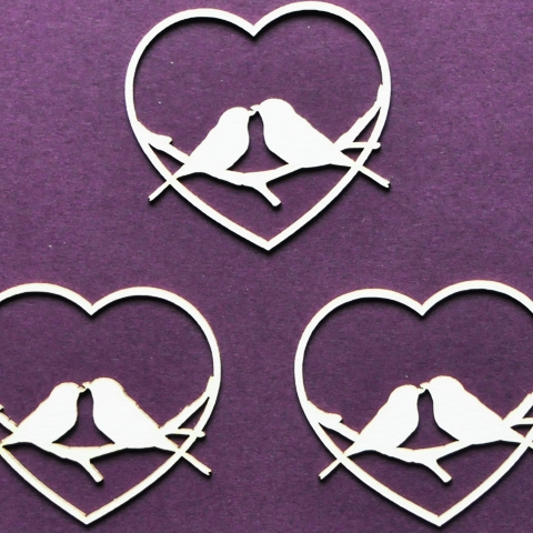 Wycinanka Love Birds - Chipboard