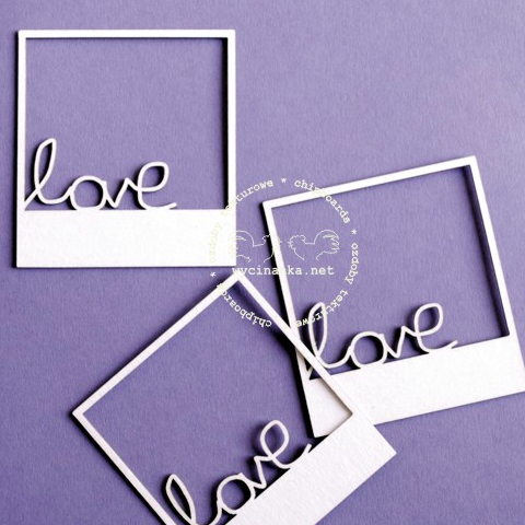 Wycinanka Love Frames - Chipboard