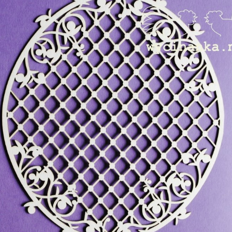 Wycinanka Blueberry Swirl Lattice - Chipboard