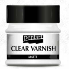 Pentart Clear Matt Varnish, solvent based, 100 ml