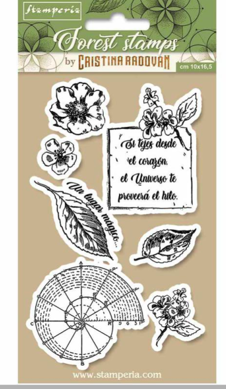 Stamperia Natural Rubber Stamps 10 x16.5 - Botanical- WTKCCR08