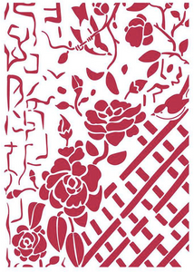 Stamperia Stencil - Flexible transparent 21x29,7cm - Fence with Roses KSG440