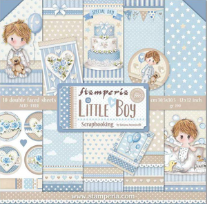 "Stamperia Little Boy- 12"" x 12"" Paper Pad SBBL68"