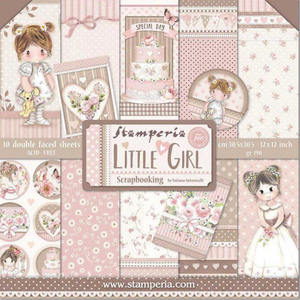 "Stamperia Little Girl - 12"" x 12"" Paper Pad SBBL67"