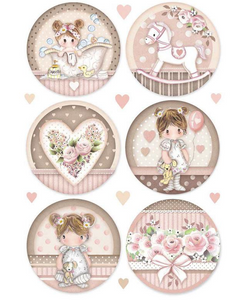 Stamperia A4 Decoupage Packed Little Girl  DFSA4451