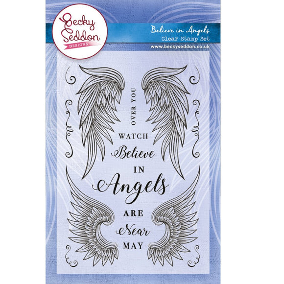 Becky Seddon 'Believe in Angels' A6 Clear Stamp Set
