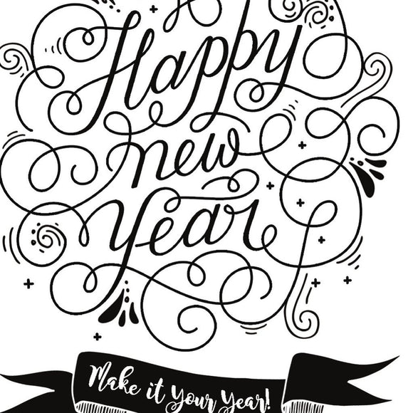 Becky Seddon 'Happy New Year ' A6 Clear Stamp Set - DaliART