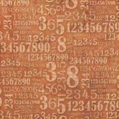 Stamperia 50x 50cm Decoupage Rice Paper- Steam Punk Rust Numbers- DFT223